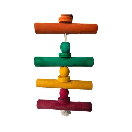 اسباب بازی داخل قفس چوبی